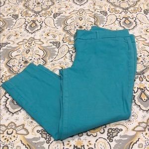 New York and company teal pants
